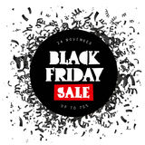 Zwarte vrijdag Verkoop 24 November Stock Afbeeldingen