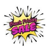 Zwarte vrijdagbanner Royalty-vrije Stock Afbeeldingen