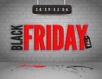 Zwarte vrijdagbanner Royalty-vrije Stock Afbeelding