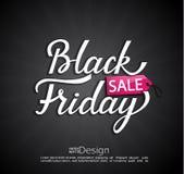 Zwarte vrijdagbanner Vector Royalty-vrije Stock Foto's