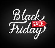 Zwarte vrijdagbanner Vector illustratie Royalty-vrije Stock Foto's