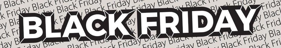 Zwarte vrijdagbanner Vectorbanner voor winkels, Web stock illustratie