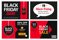 Zwarte vrijdagkaart vector illustratie