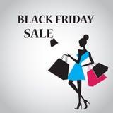 Zwarte vrijdagverkoop voor commercieel en advertenties royalty-vrije illustratie