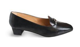 Zwarte vrouwelijke schoen stock afbeelding