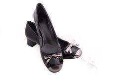 Zwarte vrouwelijke schoenen Royalty-vrije Stock Afbeelding