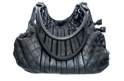 Zwarte vrouwelijke zak Royalty-vrije Stock Afbeeldingen