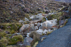 Zwarte vulkanische rotsen Royalty-vrije Stock Afbeelding