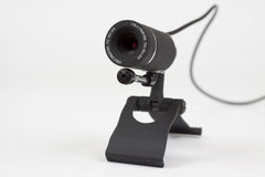 Zwarte webcam Stock Foto