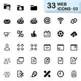 33 zwarte Webpictogrammen 03 Stock Afbeeldingen