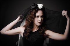 Zwarte weduwe Royalty-vrije Stock Afbeeldingen