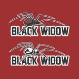 Zwarte weduwemascotte Royalty-vrije Stock Afbeeldingen