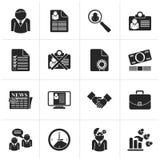 Zwarte Werkgelegenheid en banenpictogrammen royalty-vrije illustratie