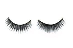 Zwarte wimpers voor make-up Stock Foto