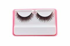 Zwarte wimpers voor make-up Stock Fotografie