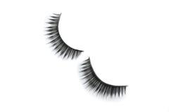 Zwarte wimpers voor make-up Royalty-vrije Stock Foto's