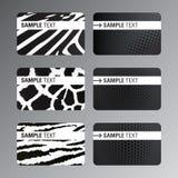 Zwarte witte adreskaartjes Stock Foto's