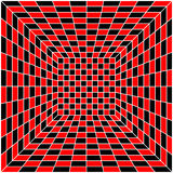 Zwarte, witte en rode naadloze tegel, vector Stock Foto's