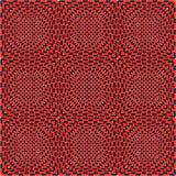 Zwarte, witte en rode naadloze tegels, vector Royalty-vrije Stock Foto's