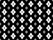 Zwarte & witte geometrische naadloze textuur met ruiten Stock Fotografie