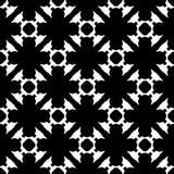 Zwarte & witte geometrische textuur, bloemen, kruisen Stock Foto
