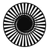 Zwarte Witte Radiale Samenvatting Vector Illustratie
