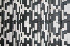 Zwarte witte steenmuur stock foto