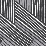 Zwarte witte van de het patroon diagonale rechthoek van de draailijn grijze het weefselstreptokok Stock Afbeeldingen
