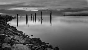 Zwarte & Witte Zonsondergang Stock Fotografie