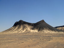 Zwarte Woestijn vulkanische heuvel, Egypte, dichtbij Farafra Royalty-vrije Stock Foto