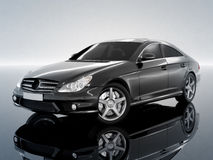 Zwarte zaken-Klasse Auto Royalty-vrije Stock Foto