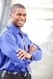 Zwarte zakenman Royalty-vrije Stock Foto's
