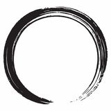 Zwarte Zen Circle Brush Vector Design-Illustratie Royalty-vrije Stock Foto's