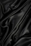 Zwarte zijde/fluweeldoek Royalty-vrije Stock Fotografie