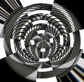 Zwarte zilveren metaalcirkels, achtergrond Stock Foto's