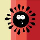 Zwarte zon Royalty-vrije Illustratie