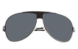 Zwarte zonnebril met grijze glazen. Royalty-vrije Stock Afbeeldingen