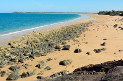 Zwartenstrand in Mackay, Australië Royalty-vrije Stock Foto