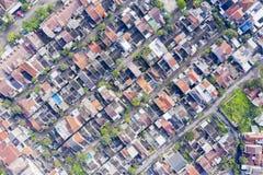 Zwarty mieszkaniowy sąsiedztwo w Bandung obraz stock