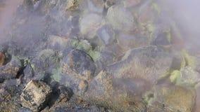 Zwavel hete fumarolen in IJsland stock videobeelden