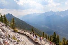 Zwavelberg in het Nationale Park van Banff, Alberta, Canada Royalty-vrije Stock Fotografie