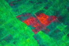 Zwavelkristallen onder de microscoop Royalty-vrije Stock Afbeeldingen