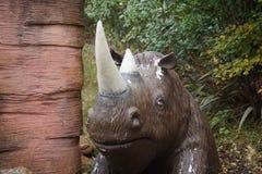 Zwełniona nosorożec - Coelodonta antiquitatis Fotografia Stock