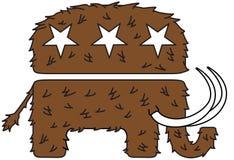 Zwełnionego mamuta logo Obrazy Royalty Free