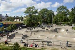 Zweden, Gothenburg, Skatepark royalty-vrije stock afbeeldingen