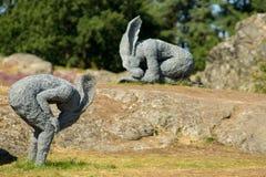 Zweden, Skulptur i Pilane stock foto's