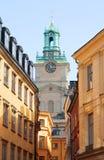 Zweden. Stockholm. Gamla Stan.Storkyrkan royalty-vrije stock afbeeldingen
