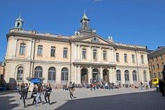 Zweden. Stockholm. Gamla Stan. Zweedse Academie royalty-vrije stock afbeelding