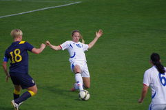 Zweden versus IJsland Stock Foto's
