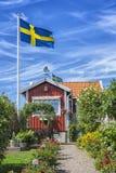 Zweeds de zomerhuis Royalty-vrije Stock Fotografie